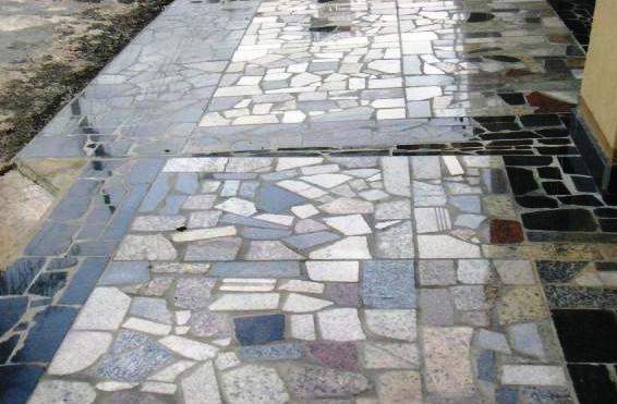 Jos vilmar pisos caco de granito for Mosaicos para pisos exteriores