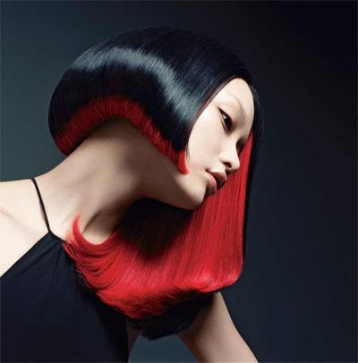 día masaje cabello rojo