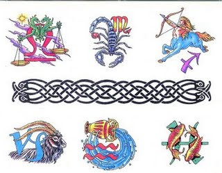 Celtic Zodiac Symbol Tattoos