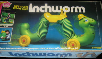 Inchworm Toy 1970s Vintage 1970's Hasbro Inchworm
