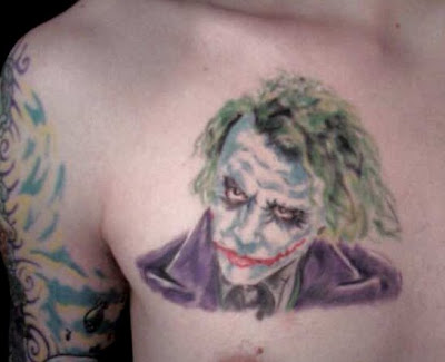 After the workout, ever the joker, John walked backward to. Joker Tattoo.