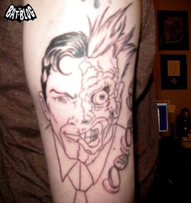 Batman Tattoo Art TWOFACE Comic Book Version