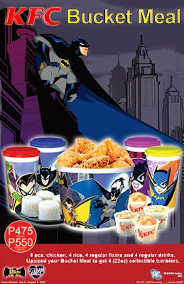 BATMAN CARTOON Promotional Items at KFC in The Philippines