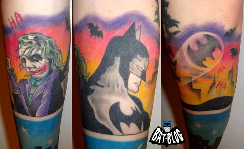"Two Face Joker Tattoos The Joker is the ""Heath Ledger"" version from The Dark"
