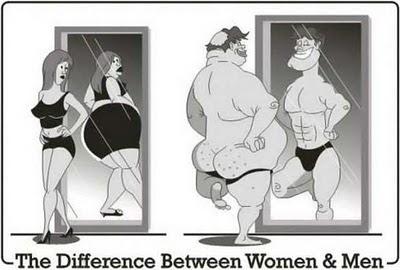 Mirarse al espejo - hombres vs mujeres