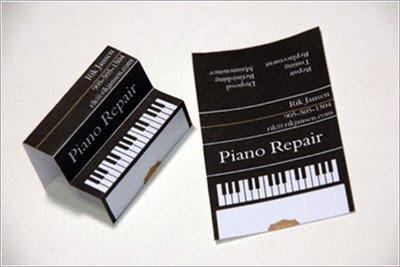 Tarjeta de visita de pianista