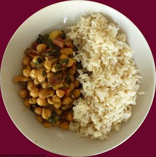 indiase curry kikkererwten snijbiet kokosmelk