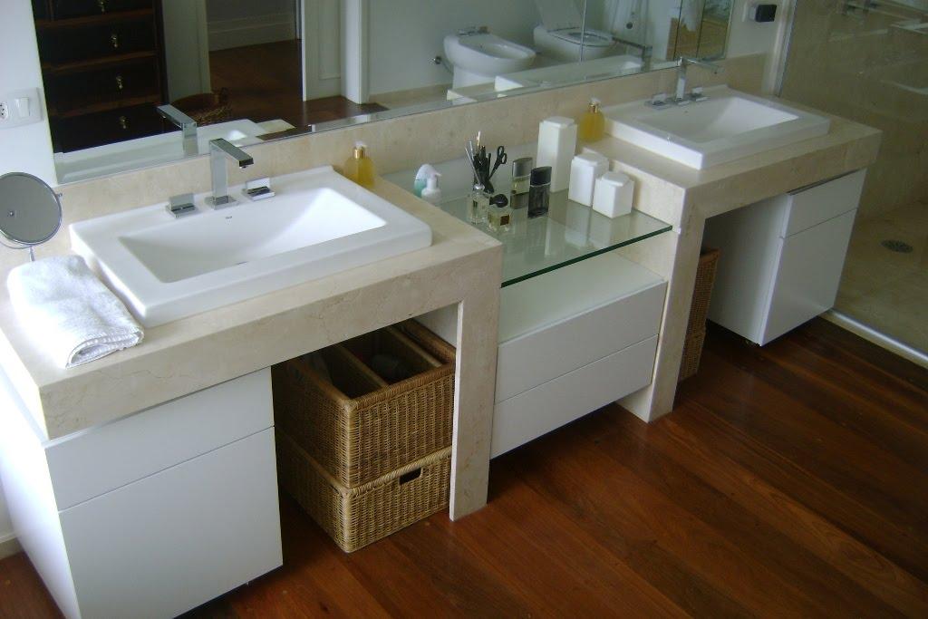 Galeria do Mármore Banheiros -> Decoracao De Banheiro Com Bancada De Granito