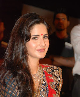 Katrina Kaif hot and sexy in red saree photo at Nakshatra Vivaah collection launch
