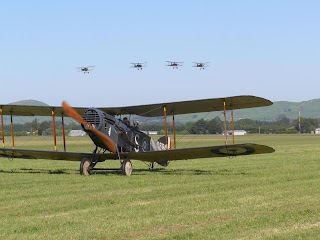 Bristol F.2B Fighter, 3x Se5a and 1 Fokker D.VII