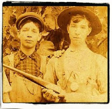 OLIVER JETT WITH HIS BROTHER ELMER LEE CLISER 1907