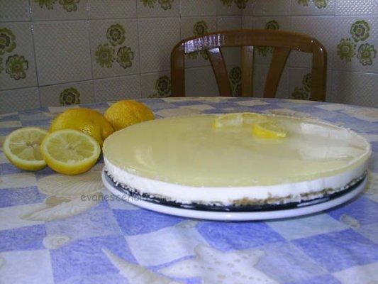 tarta de queso fría y limón