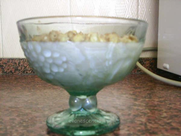 copa de horchata con melón y nueces