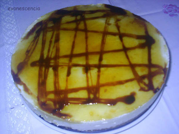 vista desde arriba tarta mousse limon
