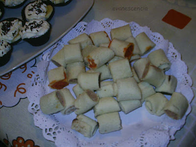 rollitos de pan de molde