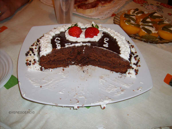 corte tarta sacher