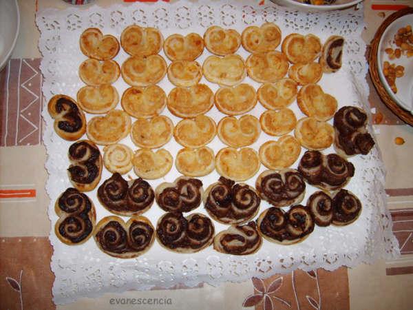 palmeritas hojaldre dulces