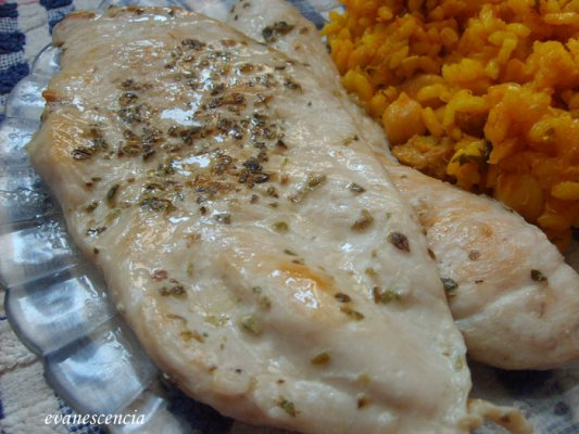 filetes pollo oregano