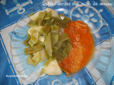 judias verdes con salsa de sesamo