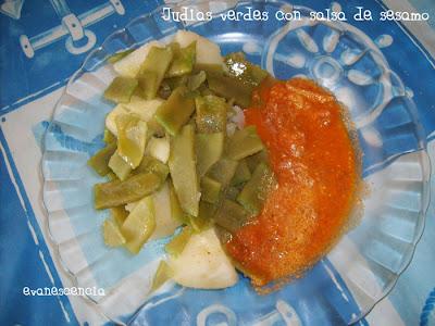 judias verdes con salsa de sesamo