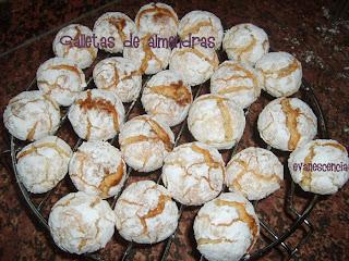 galletas de almendras horneadas