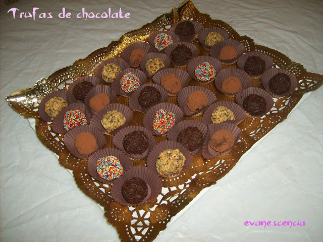 trufas de chocolate
