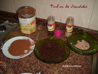 ingredientes para trufas chocolate