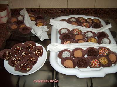 todas las trufas de chocolate