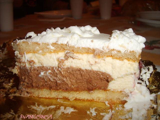 efecto capas nata y chocolate