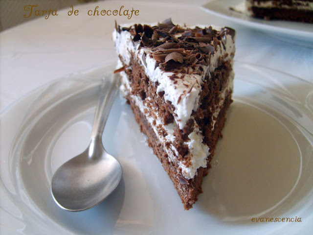 trozo tarta chocolate