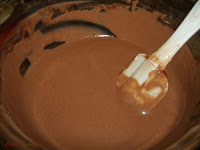 mezcla queso chocolate