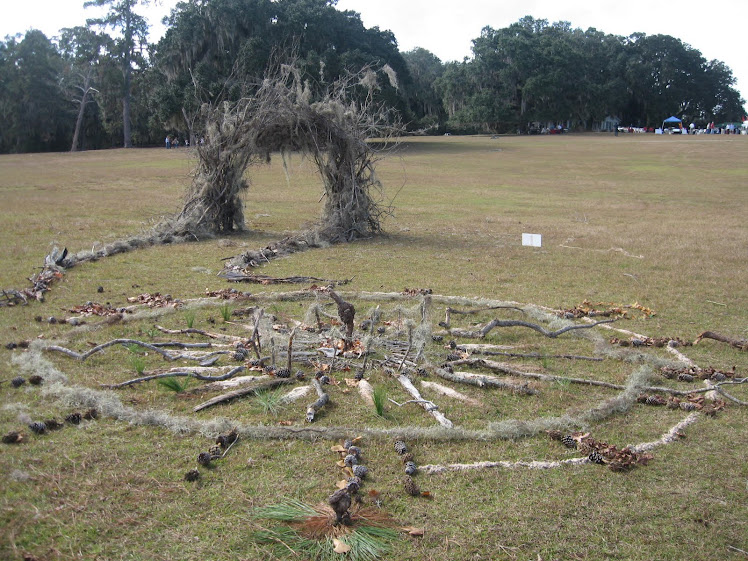 Earth Art inspired by Andy Goldsworthy