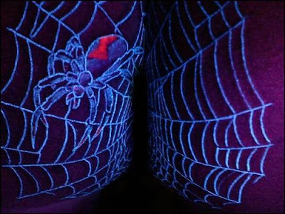 uv ink tattoo. Black Light Tattoos - Spiders, Scorpions, Robots and More