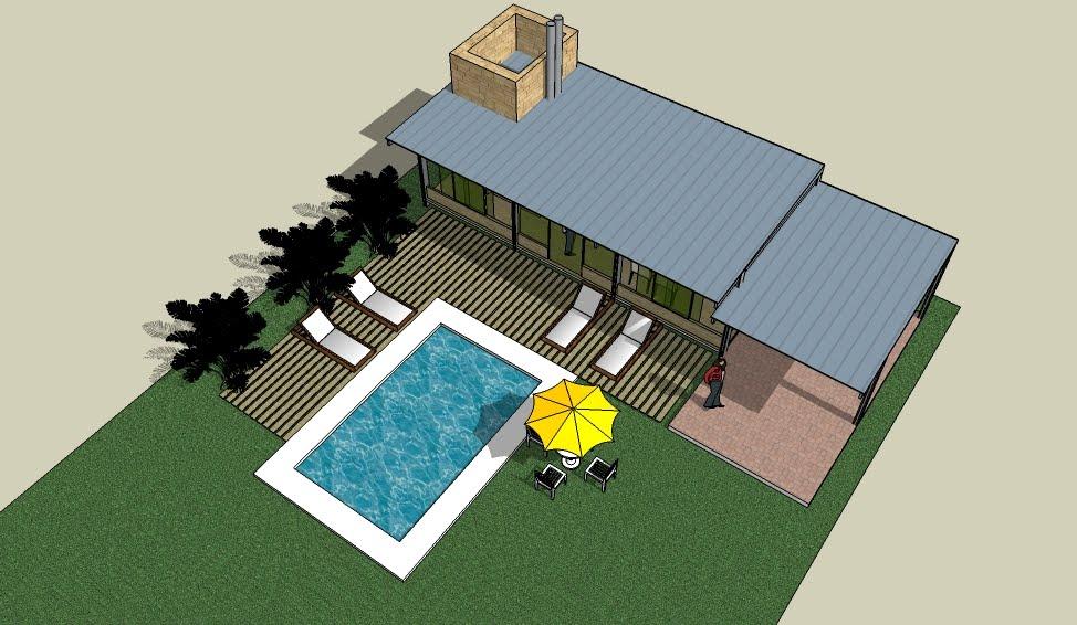 Ideas dise o arquitectura propuesta de quincho y pileta for Ladrillos para piletas