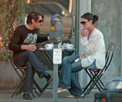 Crazy Days And Nights Katie Holmes Is Still Smoking