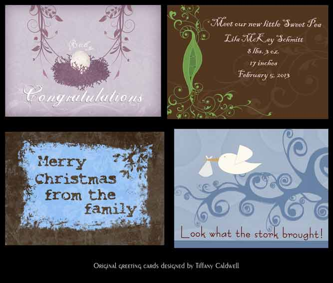 Tiffany Caldwell: Greeting Cards Designed Using Photoshop