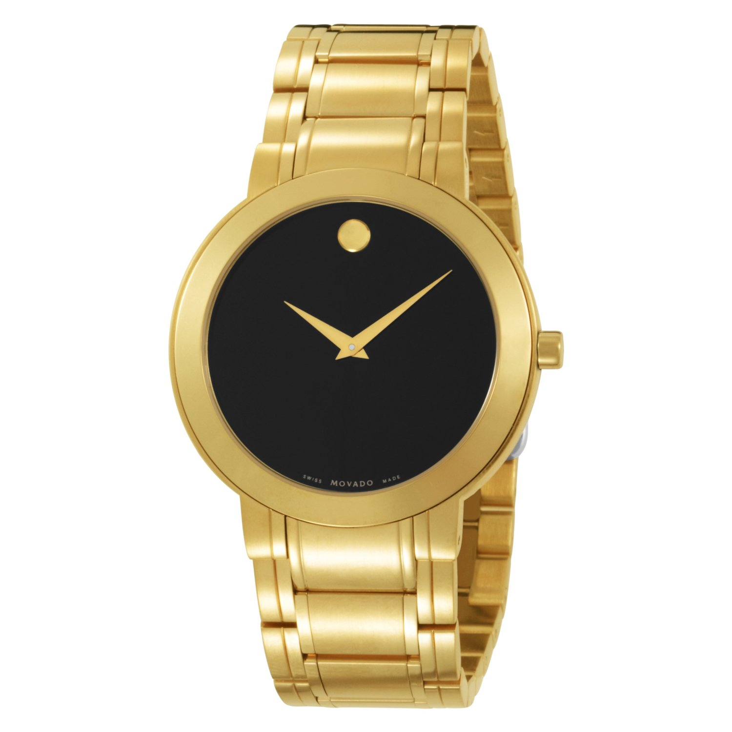 movado s 606195 stiri gold plated stainless steel