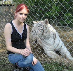 Angel the fabulous white tiger, with Summer