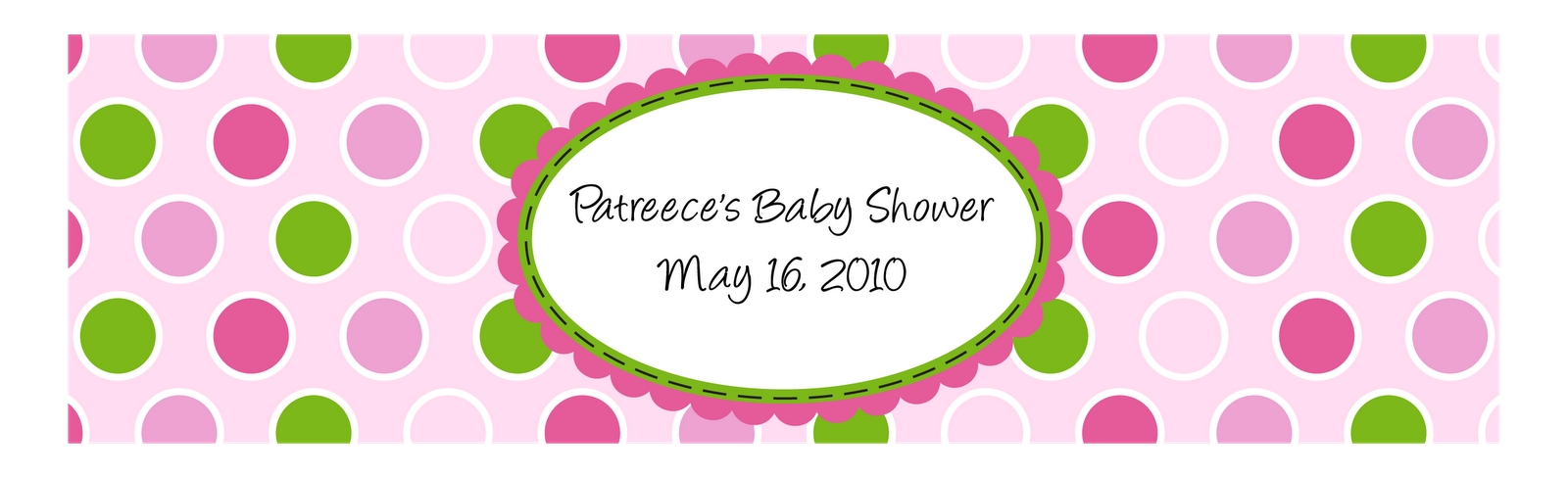 Custom printables april 2010 for Baby shower label template for favors