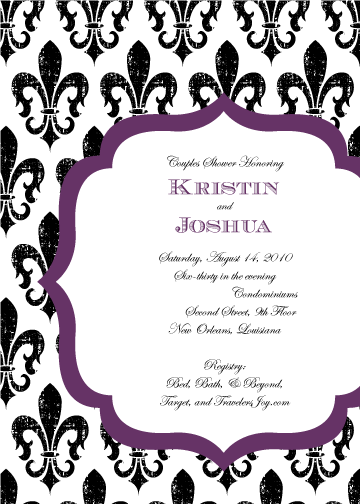 Blank Bridal Shower Invitations Templates Wedding shower invitation