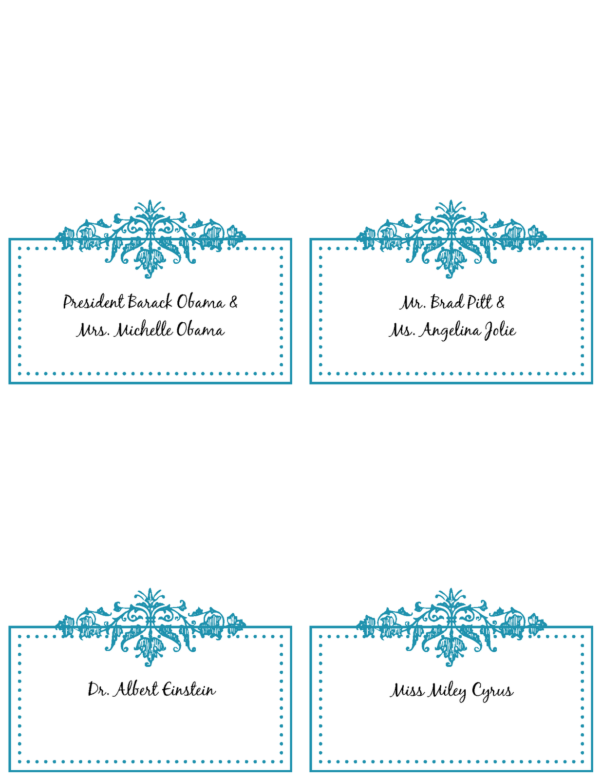 Free Printable Place Cards Template | Printable template 2017