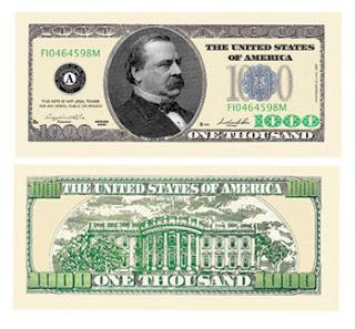 1,000 dollar bill