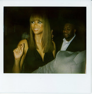 Tyra Banks at Baby Phat runway show