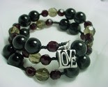 'Love' Handcrafted Beaded Bracelet