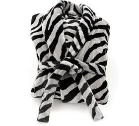 Zebra Print Plush Robe