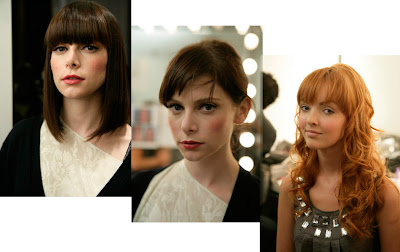 Models backstage at the Nicky Hilton Spring 2008 show