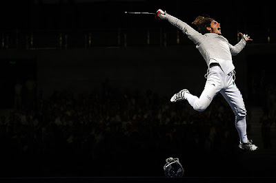 Fencing athlete at 2008 Beijing Olympics by Koka Sexton