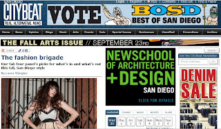 San Diego CityBeat Fashion article