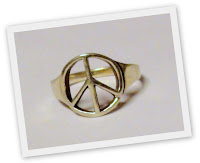 Peace ring - sterling silver