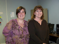 Photo graph of Ms. Averitt's EDM 310 group one podcast students Jennifer Lenox and Lynda Rigsby